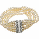 Sterling Silver Freshwater Cultured 7-Strand 7.5