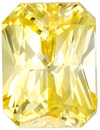Stunning Radiant Cut Yellow Sapphire Gemstone GIA, Pure Yellow Color in 8.45 x 6.43 x 5.21 mm, 3.01 carats - With GIA Certificate