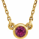 14KT Yellow Gold Pink Tourmaline 16