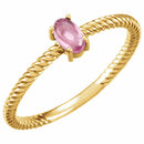 14KT Yellow Gold Pink Tourmaline Cabochon Ring