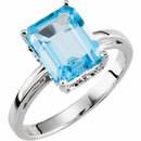 Swiss Blue Topaz Scroll Ring