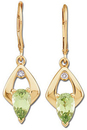 Peridot & Diamond Earrings