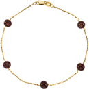 14KT Yellow Gold 5.5-6mm Freshwater Cultured Dyed Chocolate Pearl 7.5