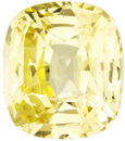 Yellow GIA Sapphire Fine Gem in Cushion Cut,  Strong Yellow Color and Clean in 9.7 x 8.5 mm, 4.09 carats - GIA Certified