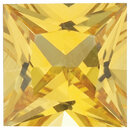 YELLOW SAPPHIRE Princess Cut Gems  - Calibrated