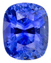 Attractive Unheated Intense Medium Blue Sapphire - Lively & Bright, with AGL Certificate, Cushion Cut, 2.21 carats -- SOLD