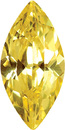 YELLOW CUBIC ZIRCONIA Marquise Cut Gems - Calibrated