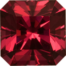 Unique Spinel Gemstone, Pinkish Purple Red Color, Radiant Asscher cut, 8.2 x 8.2 mm, 3.45 carats