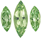 Wonderful, Well Matched Three Piece Suite of Authentic Green Beryl Genuine Gemstones, Marquise Cut, 5.81 carats - SOLD