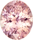 Pretty Padparadscha Unheated GIA Loose Sapphire Gem in Oval Cut, 6.51 x 5.39 x 3.55 mm, 0.91 carats