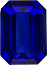 Rare Emerald Cut Blue Sapphire, Intense Color with GIA Certificate in 10.02 x 7.35 x 5.16 mm, 4.19 carats