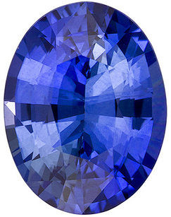 Deal On Sharp Blue Colored Sapphire Stone in Oval Cut, Rich Medium Blue, 8 x 6.1 mm, 1.46 carats