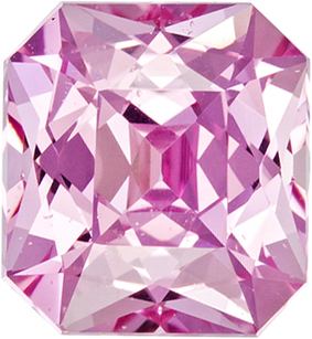 Untreated Pure Ceylon Pink Sapphire Faceted Gem in Radiant Cut, 8.0 x 7.4 mm, 2.96 Carats - With GIA Certfiicate - SOLD