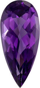Rich Purple Amethyst Gem in Pear Cut, 25.1 x 11.5 mm, 11.64 carats