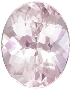 Pinky Peach Loose Morganite Gem in Oval Cut, 9 x 7.1 mm, 1.75 carats