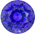 Stunning Vivid Rich Blue Tanzanite, 13 mm, Round Cut, 10.69 carats