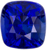 Intense Blue Gorgeous Sapphire Loose Stone in Cushion Cut, Intense Blue Color in 5.3 x 4.9 mm, 0.88 carats - SOLD