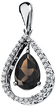 14KT White Gold Smoky Quartz & 1/3 Carat Total Weight Diamond Pendant
