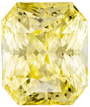 Untreated Rich Pure Yellow Sapphire Gem in Radiant Cut, 7.82 x 6.57 x 5.54 mm, 2.7 carats - SOLD