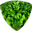 Fiery Chrome Tourmaline Loose Gemstone in Trillion Cut, Awesome Rich Grass Green Color in 6.6 mm, 1.12 carats