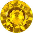 A Dazzling Sapphire Loose Gemstone in Round Cut, Daffodil Yellow Color in 5.5 mm, 0.75 carats