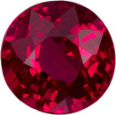 Stunning Low Cost Ruby Gem in Round Cut, Vivid Pigeon's Blood Color in 3.6 mm, 0.28 Carats