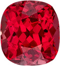 Gem Red Vietnam Spinel Gemstone in Cushion Cut, Fiery Rich Open Red Stone in 6.6 x 6.1 mm, 1.44 Carats