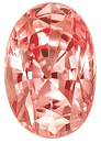 Very Special Ceylon Classic Padparadscha Unheated Sapphire, AGTA Cert, Oval Cut, 1.75 carats