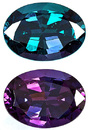 Exceptional Color Change, Cut and Clarity, Gorgeous Brazillian Alexandrite GEM, Oval Cut, 2.27 carats with GIA Certificate