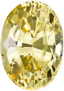 Nice Looking, Unheated, Well Priced Ceylon Yellow Sapphire with AGL Cert, Oval cut, 2.16 carats