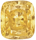 Fabulous Yellow Sapphire Genuine Not Heated Gemstone for SALE, Antique Cushion Cut, 6.76 carats