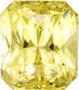 Gem Yellow Sapphire Loose Gem in Radiant Cut, Vivid Yellow Color in 8.03 x 7 x 5.61 mm, 3.11 carats - With GIA Certificate