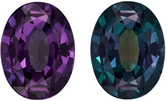 GIA Certified Loose Alexandrite Gemstone, Oval Cut, 100% Teal Blue Green to Burgundy Color Change in 7.1 x 5.4 mm, 0.91 carats