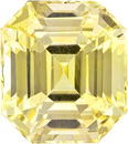 Huge Presence in 5.06 carat Yellow GIA Sapphire in Emerald Cut, Pure Yellow Color, 9.63 x 8.6 mm, 5.06 carats - With GIA Certificate