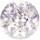 Large Round White Sapphire Genuine Gem, Very Colorless White, 8.3 mm, 3.05 carats