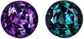Round Cut Alexandrite Gemstone, Brazil Origin, 100% Color Change from Teal Blue Green to Eggplant, 4.9 mm, 0.54 carats - SOLD