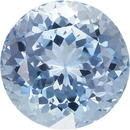 Sky Blue Loose Natural Aquamarine Stone in Round Cut, Sky Blue Color in 8.6 mm, 2.52 carats