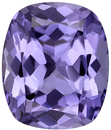 Lavender Loose Faceted Spinel Genuine Gem in Cushion Cut, Beautiful Lavender Color in 8.8 x 7.4 mm, 2.4 carats