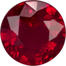 High Color Ruby Loose Gem in Round Cut, Pure Rich Red, 4.5 mm, 0.43 carats