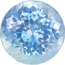 Excellent Color in Loose Aquamarine Gemstone Round Cut in Rich Blue Color, 7.1 mm, 1.27 carats