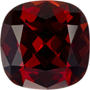 Rich Red Garnet Loose Gem in Cushion Cut, Rich Red Color, 8.8 mm, 3.24 carats