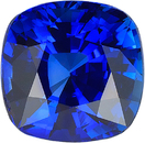 Genuine Vivid Blue Sapphire Certified Cushion Cut in Intense Vivid Blue Color 7.79 x 7.74 mm, 3.03 Carats - With CDC Certificate