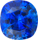 Fine CDC Certified Sapphire Square Cushion Cut Gem in Intense Blue Color, 8.79 x 8.23 mm, 3.64 Carats - With CDC Certificate