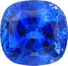 Certified Cushion Blue Sapphire in Fine Blue Color in 8.66 x 8.29 mm, 4.25 Carats - With CDC Certificate