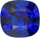 GRS Vivid Royal Blue Sapphire Cushion Shape Gemstone, Stunning Gem in 10.82 x 10.21 mm, 7.12 Carats - With GRS Certificate