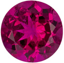 Rich Loose Red Tourmaline Loose Round Gem in Vivid Rich Fuchsia Red Color, 7.9 mm, 1.85 carats