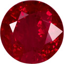 Loose Faceted Round Ruby Genuine Gem in Medium Tone Rich Red Color, 5.6 mm, 0.91 carats - SOLD