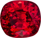 Rich Red Color in Spinel with GIA Certificate, Cushion Cut in Rich Red Color in 7.8 x 7.4mm, 2.56 carats - With GIA Certificate