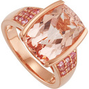 Think Pink! 7.63ct 14x10mm Morganite, Pink Tourmaline and Rose Gold Ring for Her - Great Gift! - SOLD