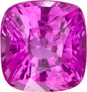 Impressive 4.11 carat Pink Sapphire Loose Gemstone In Cushion Cut, Intense Pure Pink Color in 8.8 x 8.2 mm, 4.11 carats
